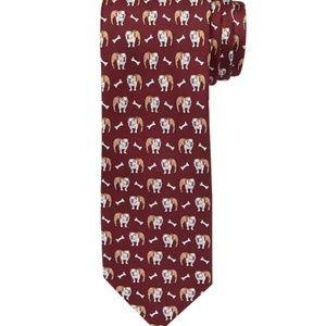 Jos A Bank 1905 Collection Bulldog Tie NWT